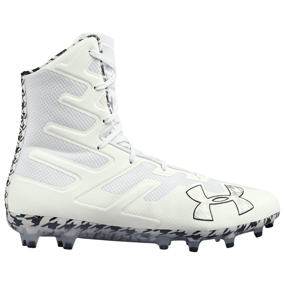 アンダーアーマー Under Armour メンズ ラクロス シューズ・靴【Lacrosse Highlight MC LE】White/White/Black