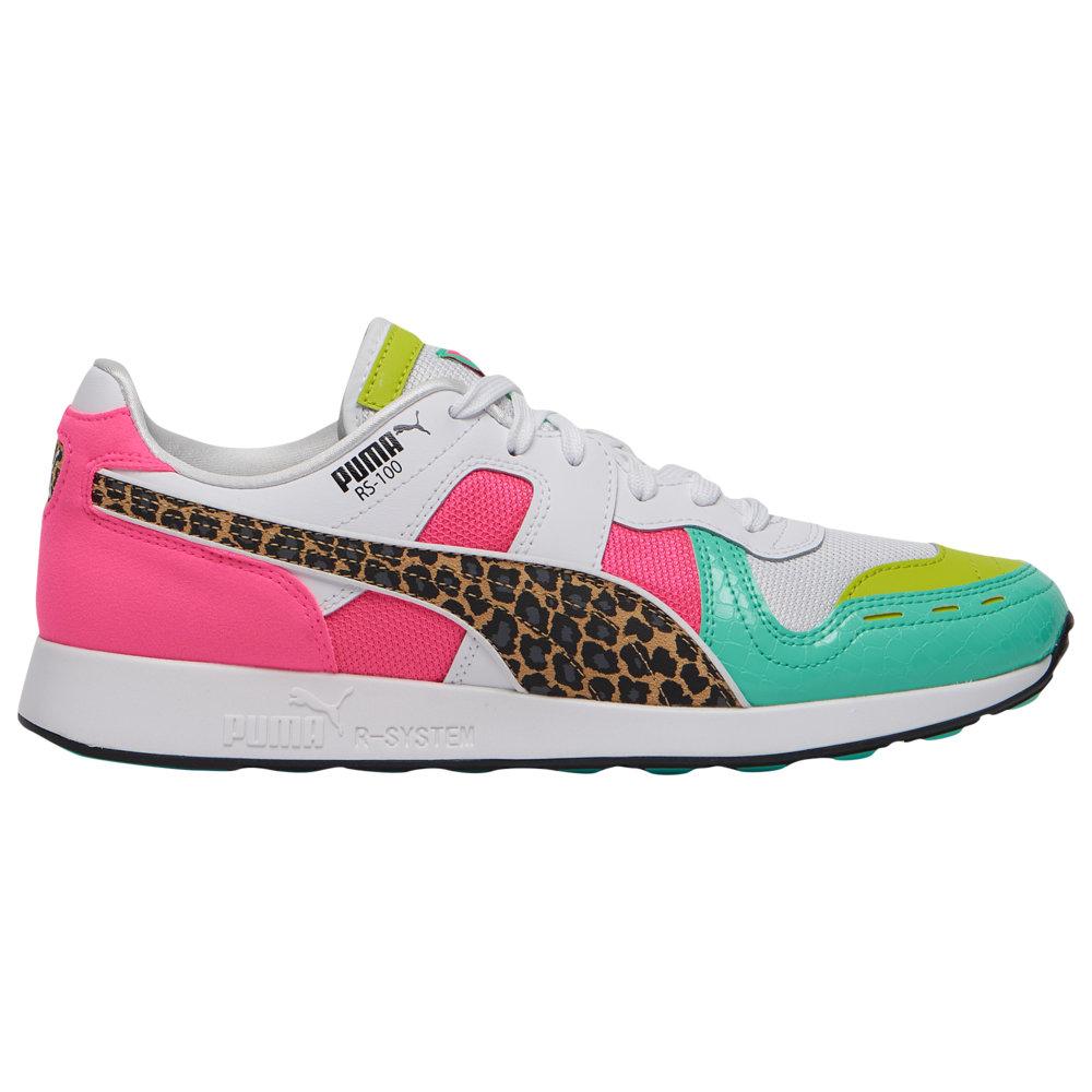 プーマ PUMA メンズ ランニング・ウォーキング シューズ・靴【RS-100】White/Biscay Green/Knockout Pink Croc