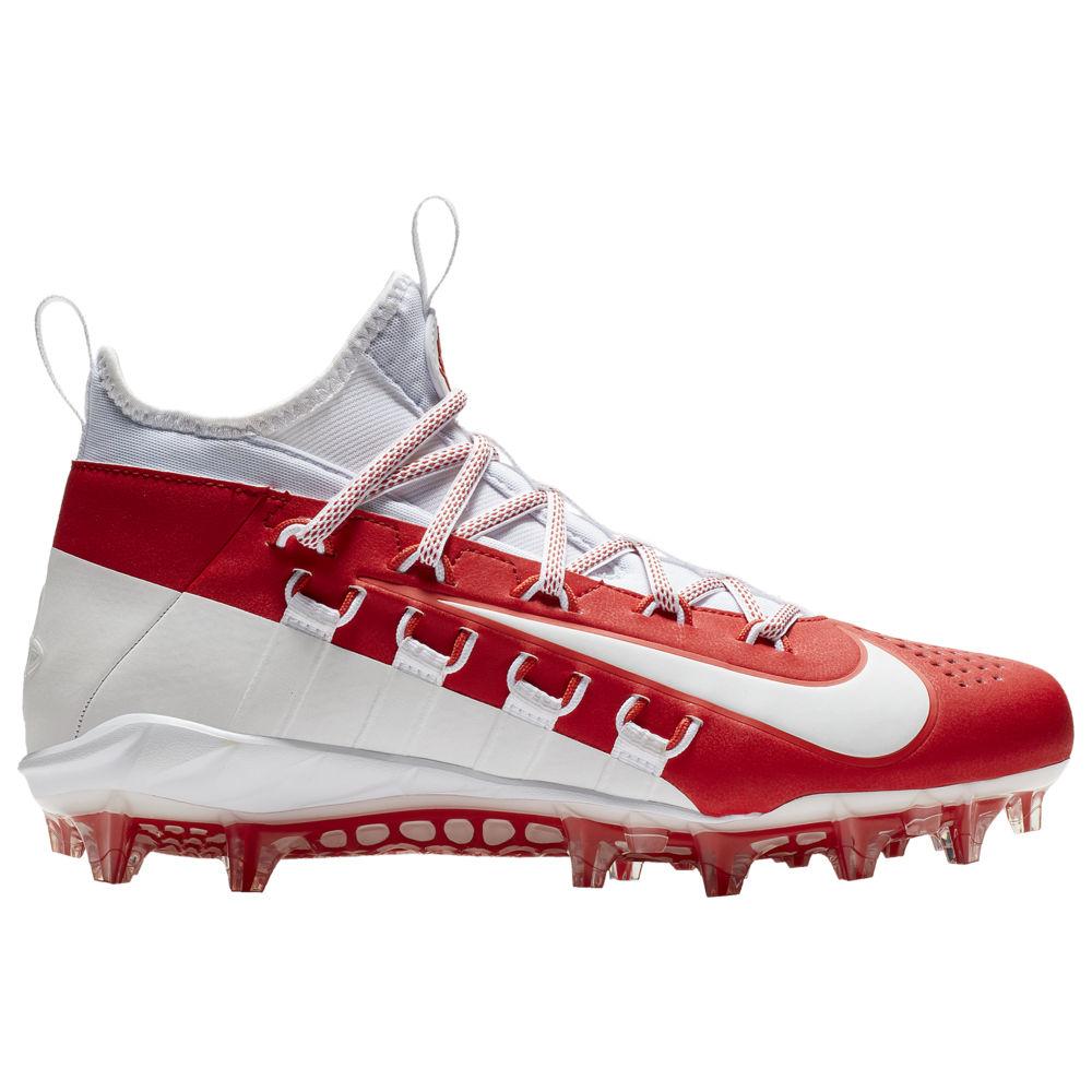 ナイキ Nike メンズ ラクロス シューズ・靴【Alpha Huarache 6 Elite LAX】White/White/University Red/Light Crimson