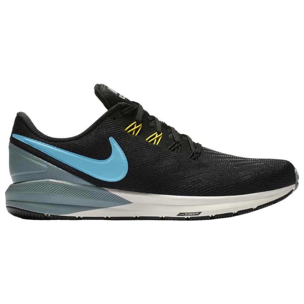 ナイキ Nike メンズ ランニング・ウォーキング シューズ・靴【Air Zoom Structure 22】Black/Blue Fury/Aviator Grey/Bright Citron