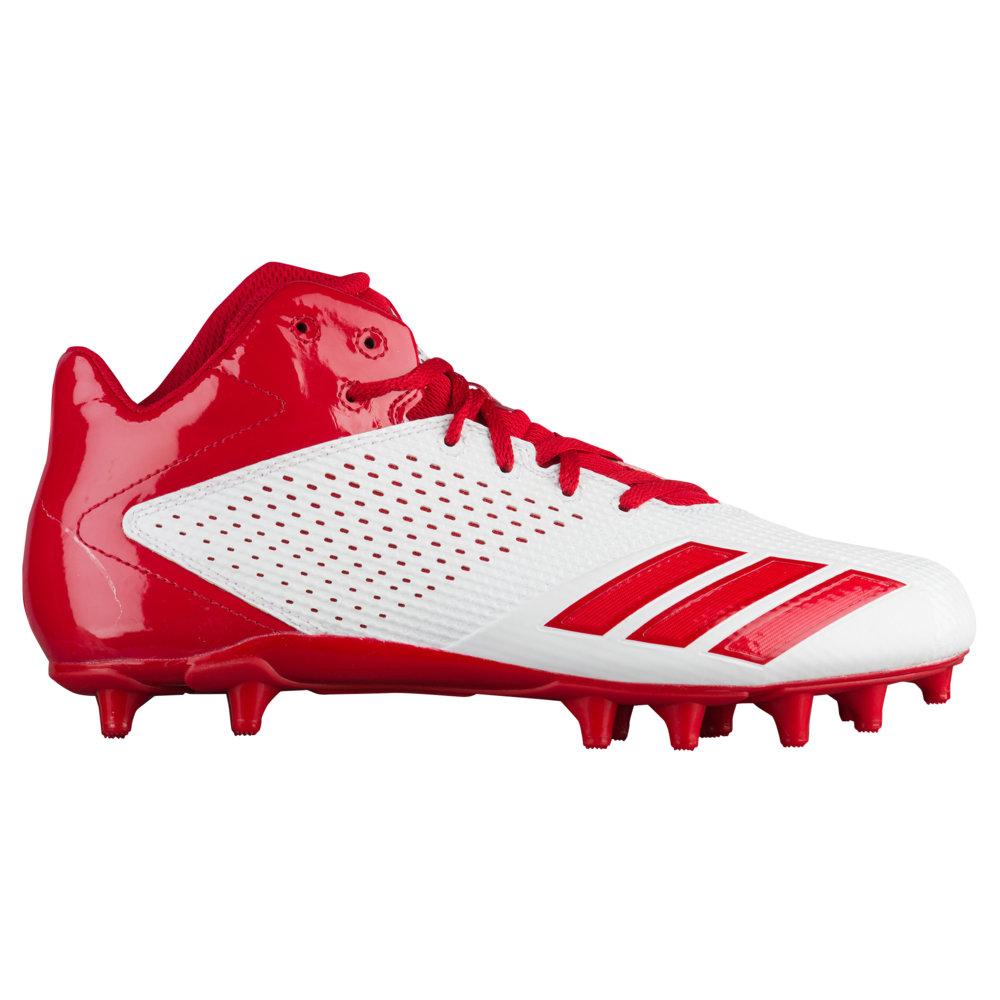 アディダス adidas メンズ アメリカンフットボール シューズ・靴【5-Star Mid】White/Power Red/Power Red