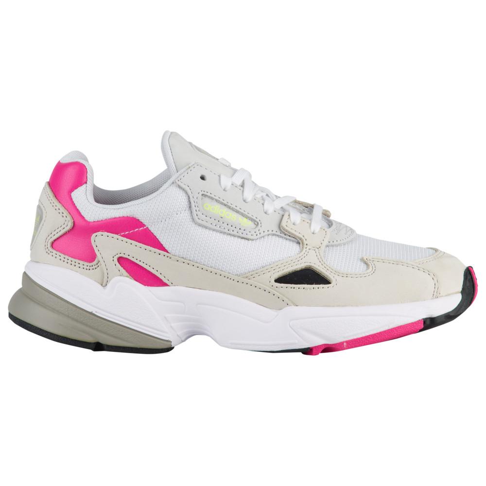 アディダス adidas Originals レディース ランニング・ウォーキング シューズ・靴【Falcon】White/Clear Brown/Shock Pink/Yellow Embroidery Pack