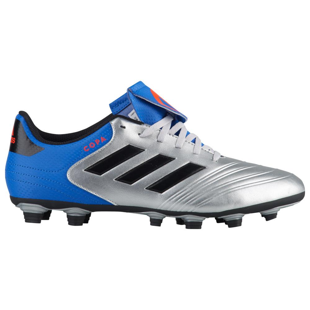 アディダス adidas メンズ サッカー シューズ・靴【Copa 18.4 FG】Silver Metallic/Core Black/Blue Team Mode
