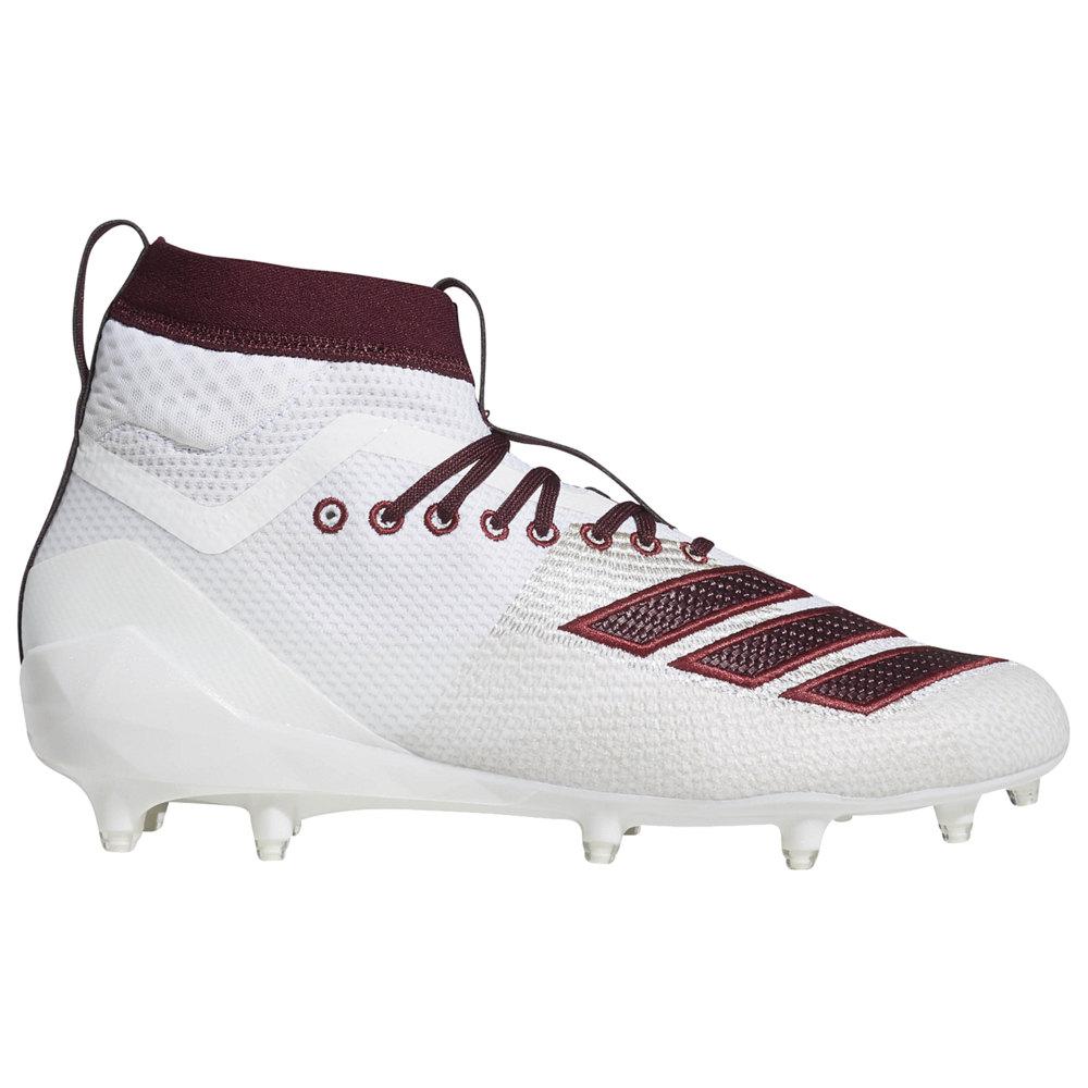 アディダス adidas メンズ アメリカンフットボール シューズ・靴【adiZero 8.0 SK】White/Maroon available to ship early March