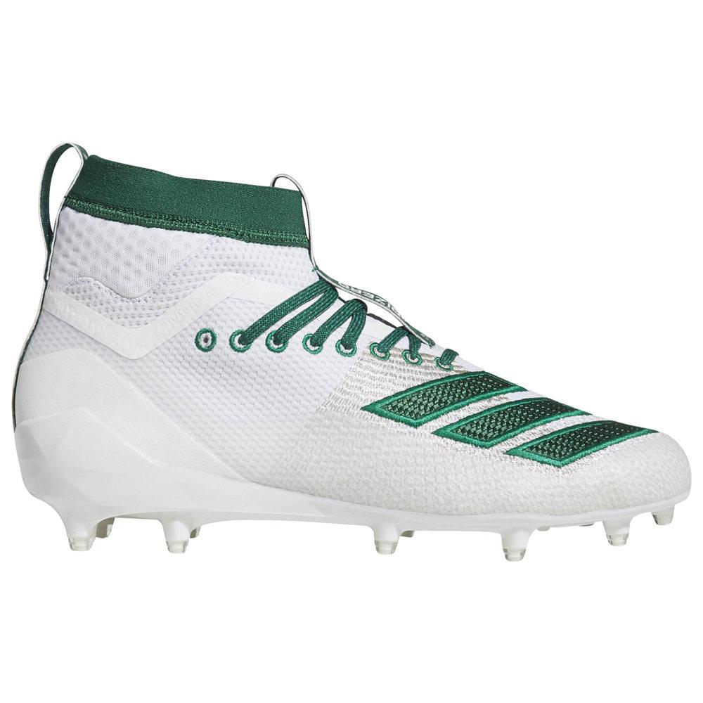 アディダス adidas メンズ アメリカンフットボール シューズ・靴【adiZero 8.0 SK】White/Dark Green available to ship early March