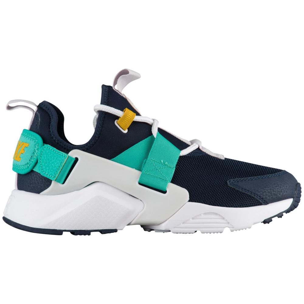 ナイキ Nike レディース ランニング・ウォーキング シューズ・靴【Air Huarache City Low】Obsidian/White/Vast Grey/Kinetic Green