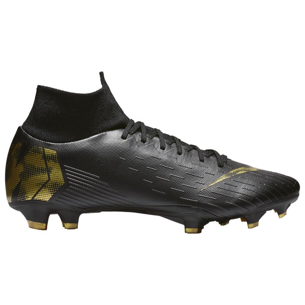 ナイキ Nike メンズ サッカー シューズ・靴【Mercurial Superfly 6 Pro FG】Black/Metallic Gold Black Lux
