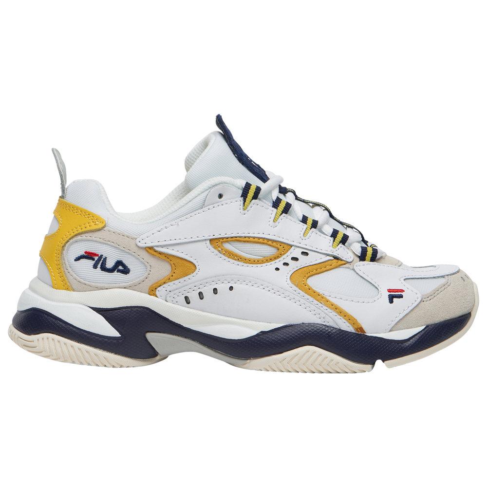 フィラ Fila レディース ランニング・ウォーキング シューズ・靴【Boveasorus】White/Yellow/Navy