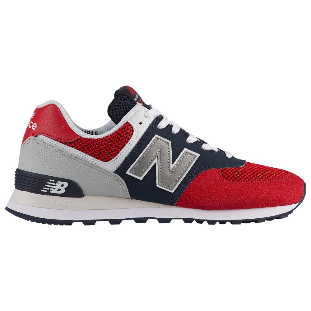 シューズ・靴【574】Team Balance New ニューバランス ランニング・ウォーキング メンズ Red/Pigment