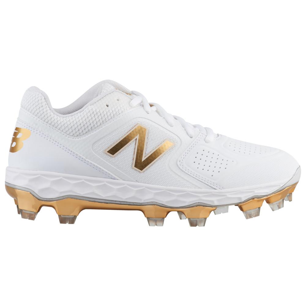 ニューバランス New Balance レディース 野球 シューズ・靴【SPVELOv1 LE TPU Low】White/Gold