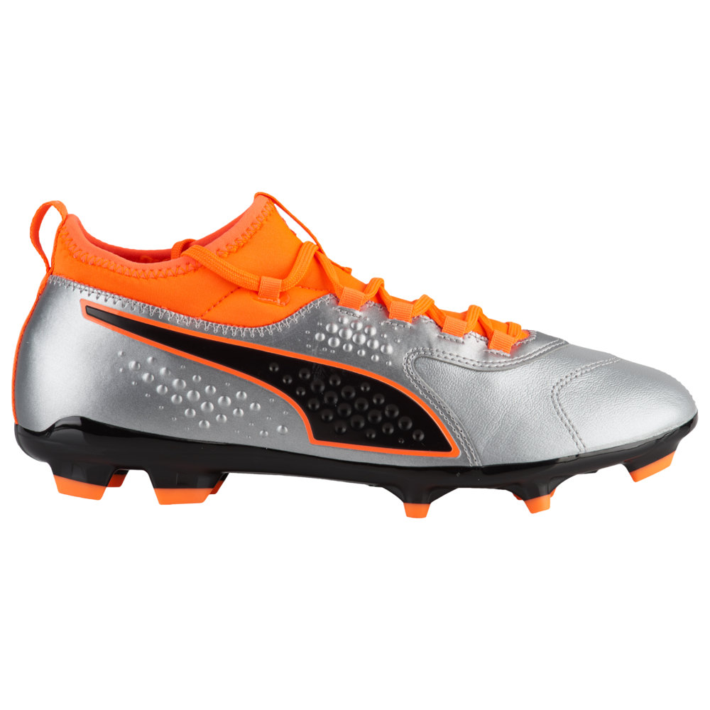 プーマ PUMA メンズ サッカー シューズ・靴【One 3 Leather FG/AG】Silver Shocking Orange