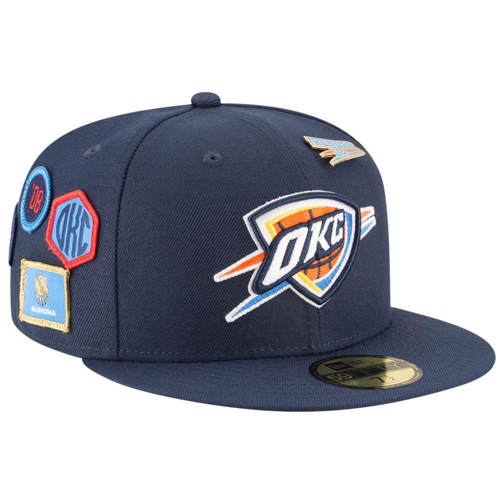 ニューエラ New Era メンズ 帽子 キャップ【NBA 59Fifty On Stage Cap】NBA Oklahoma City Thunder Navy
