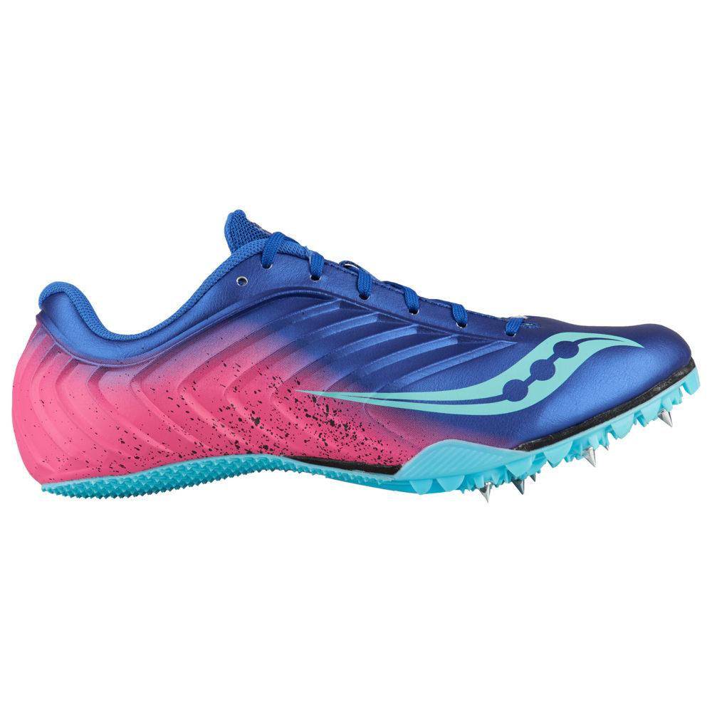 サッカニー Saucony レディース 陸上 シューズ・靴【Spitfire 5】Blue/Pink