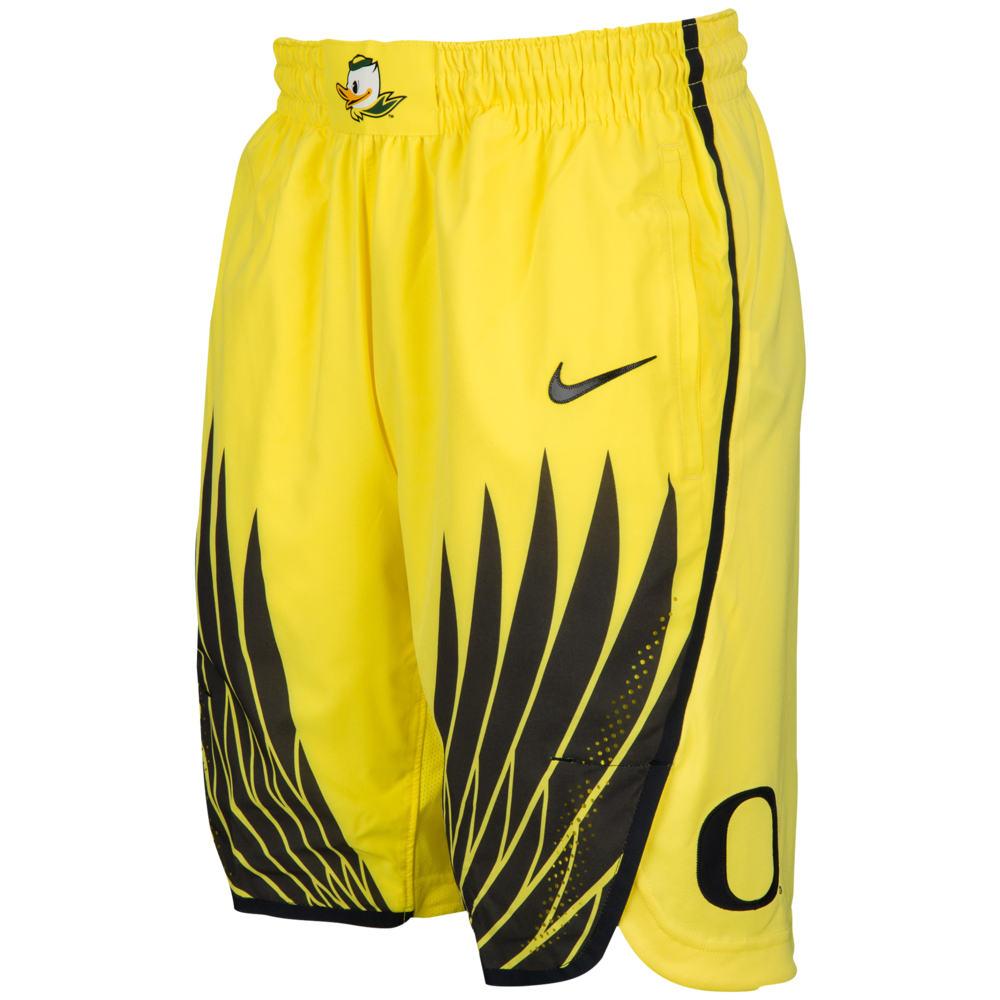 ナイキ Nike メンズ バスケットボール ボトムス・パンツ【College Authentic On Court Shorts】NCAA Oregon Ducks Yellow