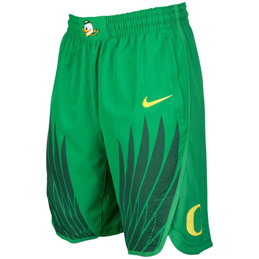 ナイキ Nike メンズ バスケットボール ボトムス・パンツ【College Authentic On Court Shorts】NCAA Oregon Ducks Apple Green