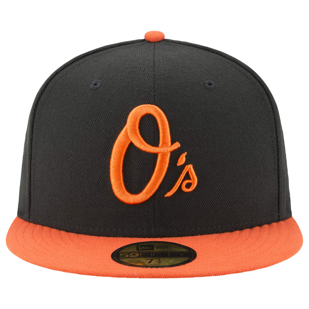 ニューエラ New Era メンズ 帽子 キャップ【MLB 59Fifty Authentic Cap】MLB Baltimore Orioles Black Alt