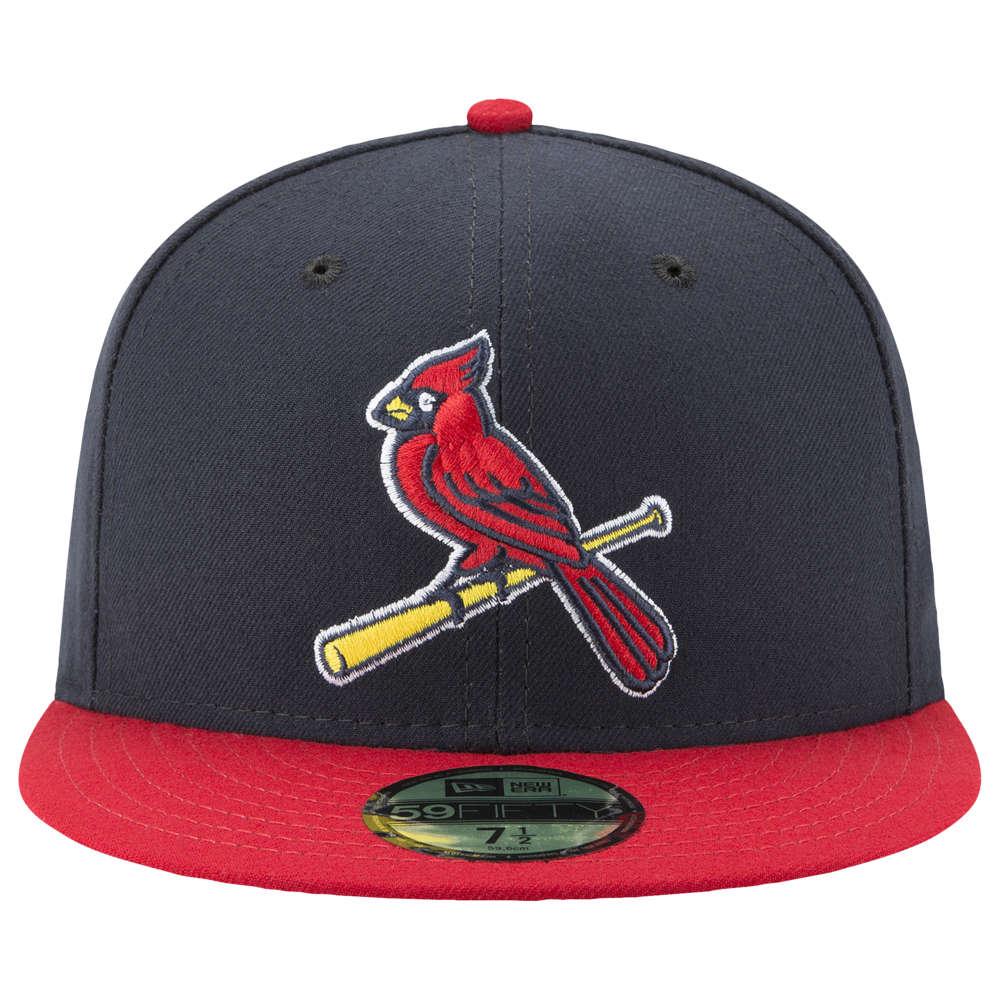 ニューエラ New Era メンズ 帽子 キャップ【MLB 59Fifty Authentic Cap】MLB St. Louis Cardinals Navy/Red Alt