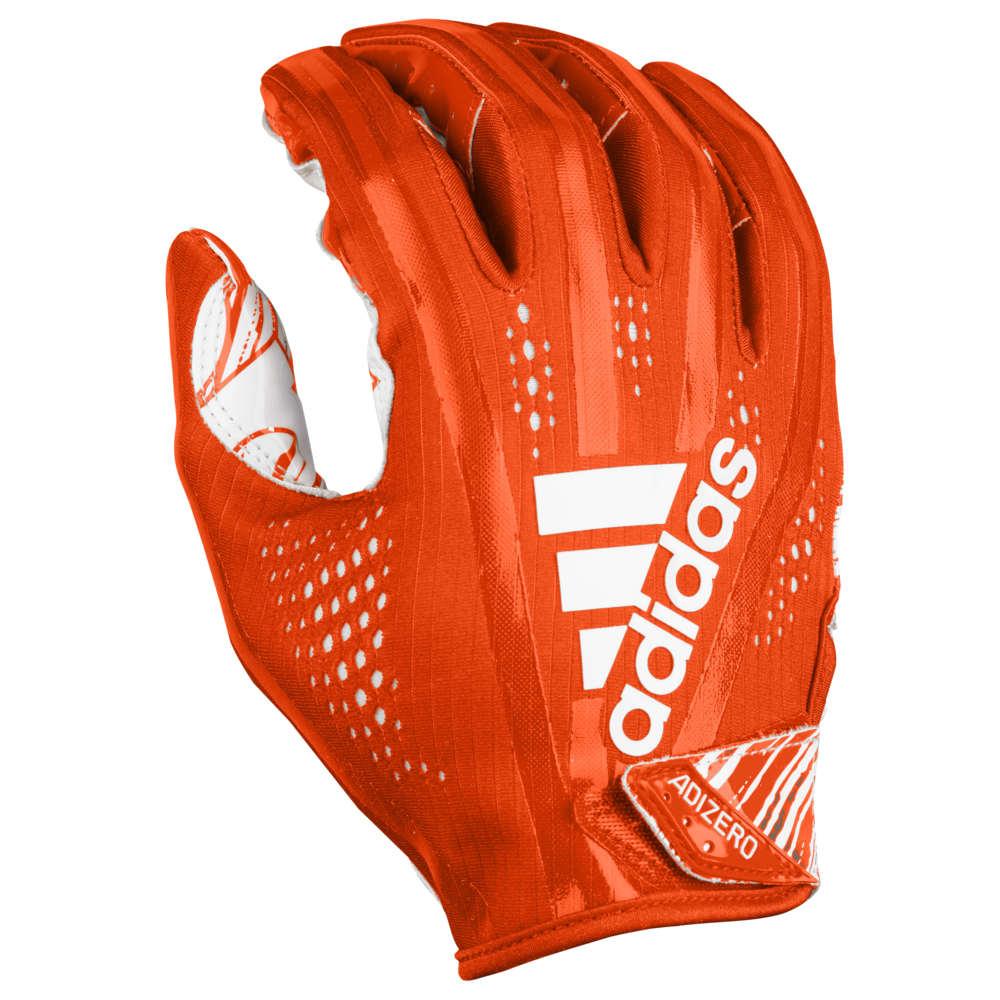 アディダス adidas メンズ アメリカンフットボール グローブ【Adizero 5-Star 7.0 Receiver Gloves】Orange/White
