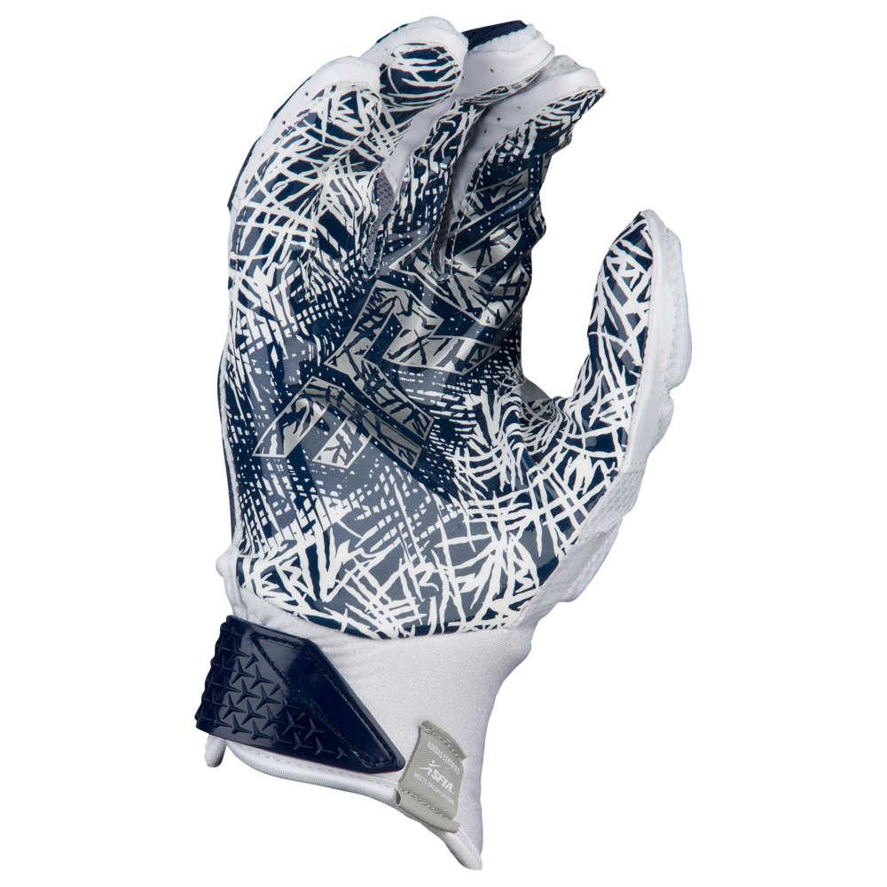 アディダス adidas メンズ アメリカンフットボール グローブ【Freak 3.0 Football Gloves】White/Navy Exclusive
