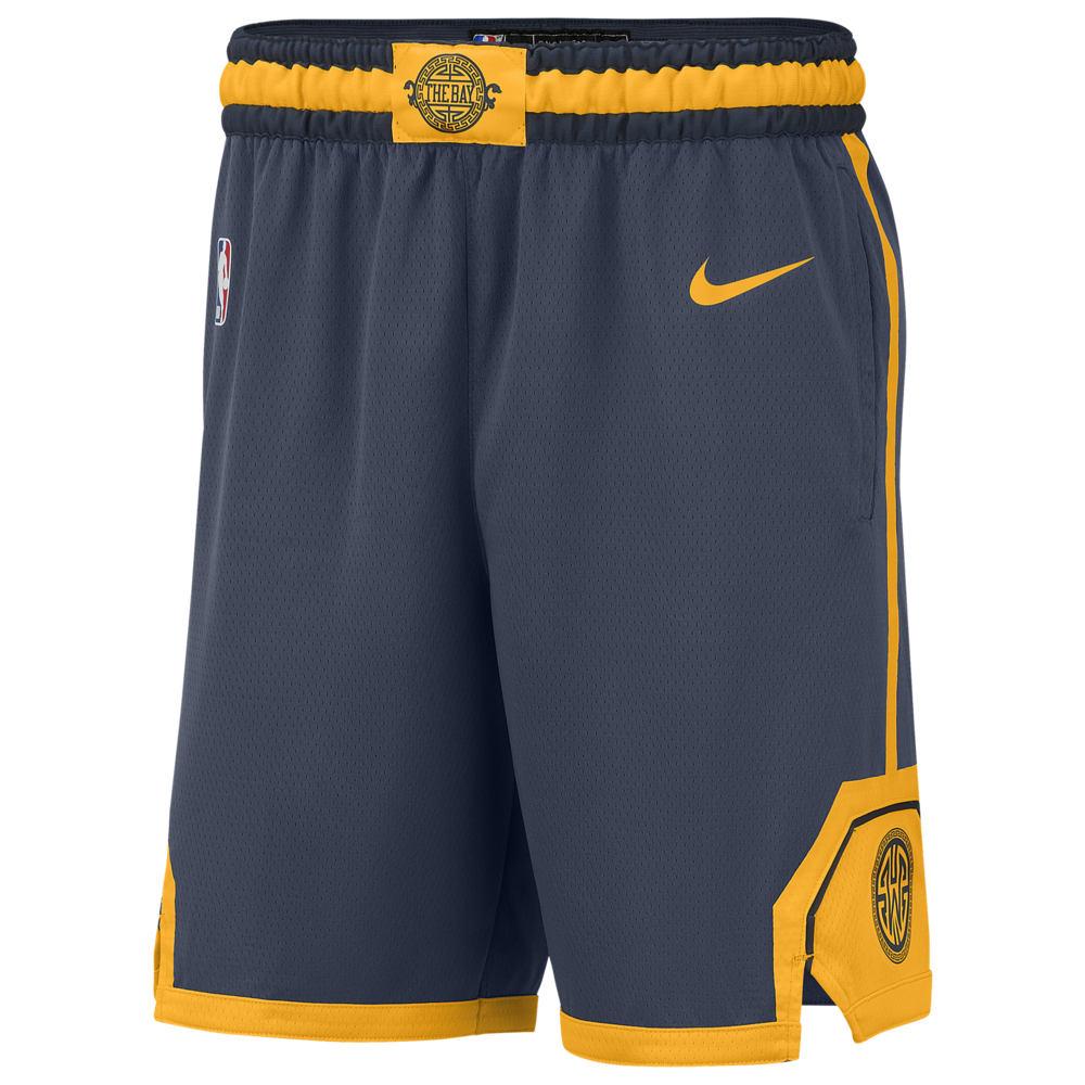 ナイキ Nike メンズ バスケットボール ボトムス・パンツ【NBA City Edition Swingman Shorts】NBA Golden State Warriors Blue