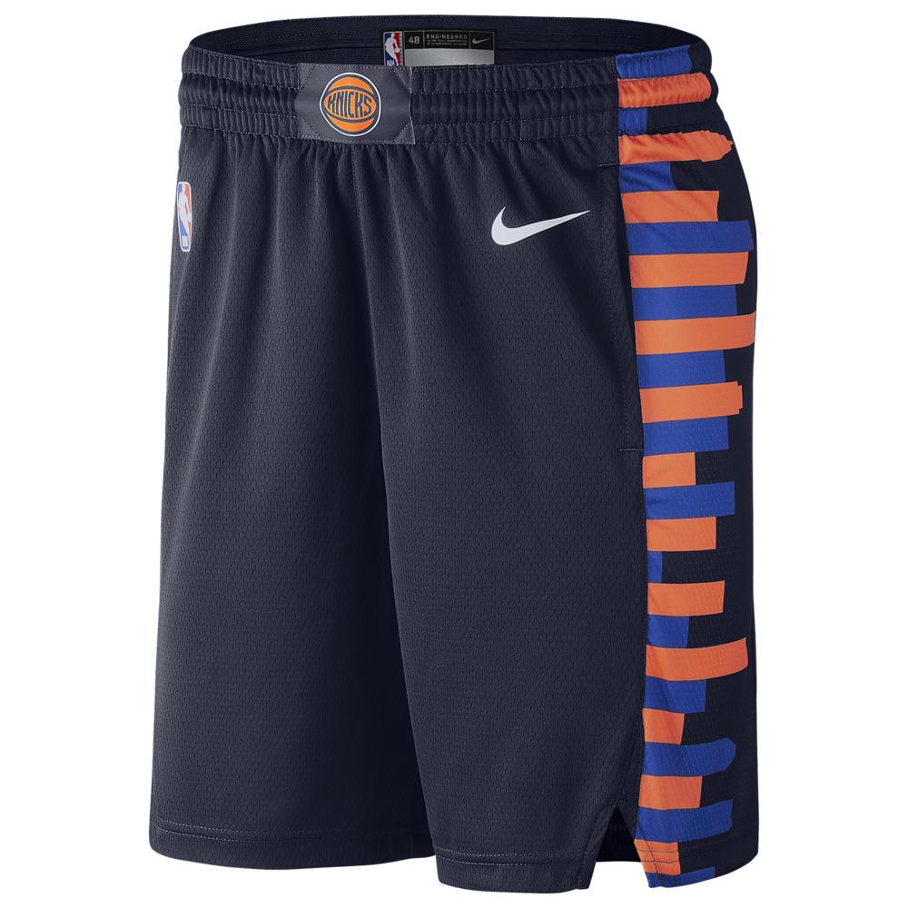 ナイキ Nike メンズ バスケットボール ボトムス・パンツ【NBA City Edition Swingman Shorts】NBA New York Knicks College Navy