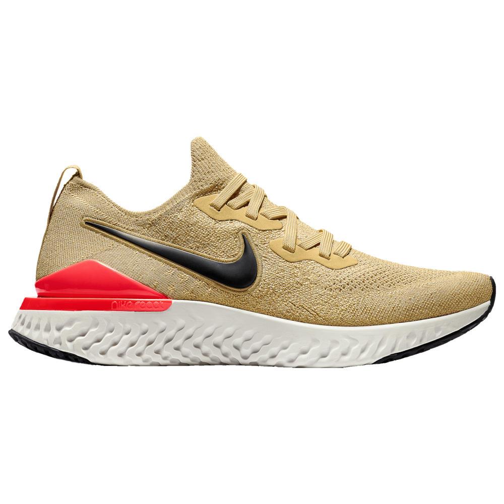 ナイキ Nike メンズ ランニング・ウォーキング シューズ・靴【Epic React Flyknit 2】Club Gold/Metallic Gold/Black/Red Orbit