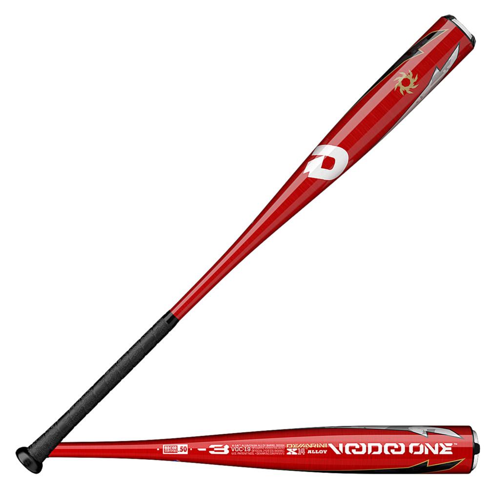 ディマリニ DeMarini メンズ 野球 バット【Voodoo One BBCOR Baseball Bat】Black/Orange -3 oz / 2 5/8