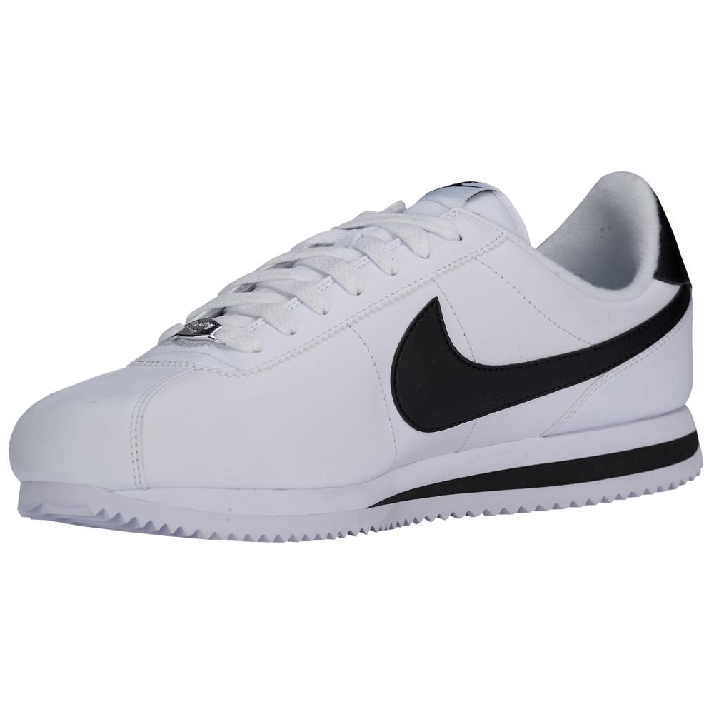 大人気の ナイキ Nike メンズ Silver/Black ランニング Nike・ウォーキング シューズ・靴【Cortez】White Leather/Metallic Silver/Black Leather, 吾妻郡:fa26ea82 --- nba23.xyz