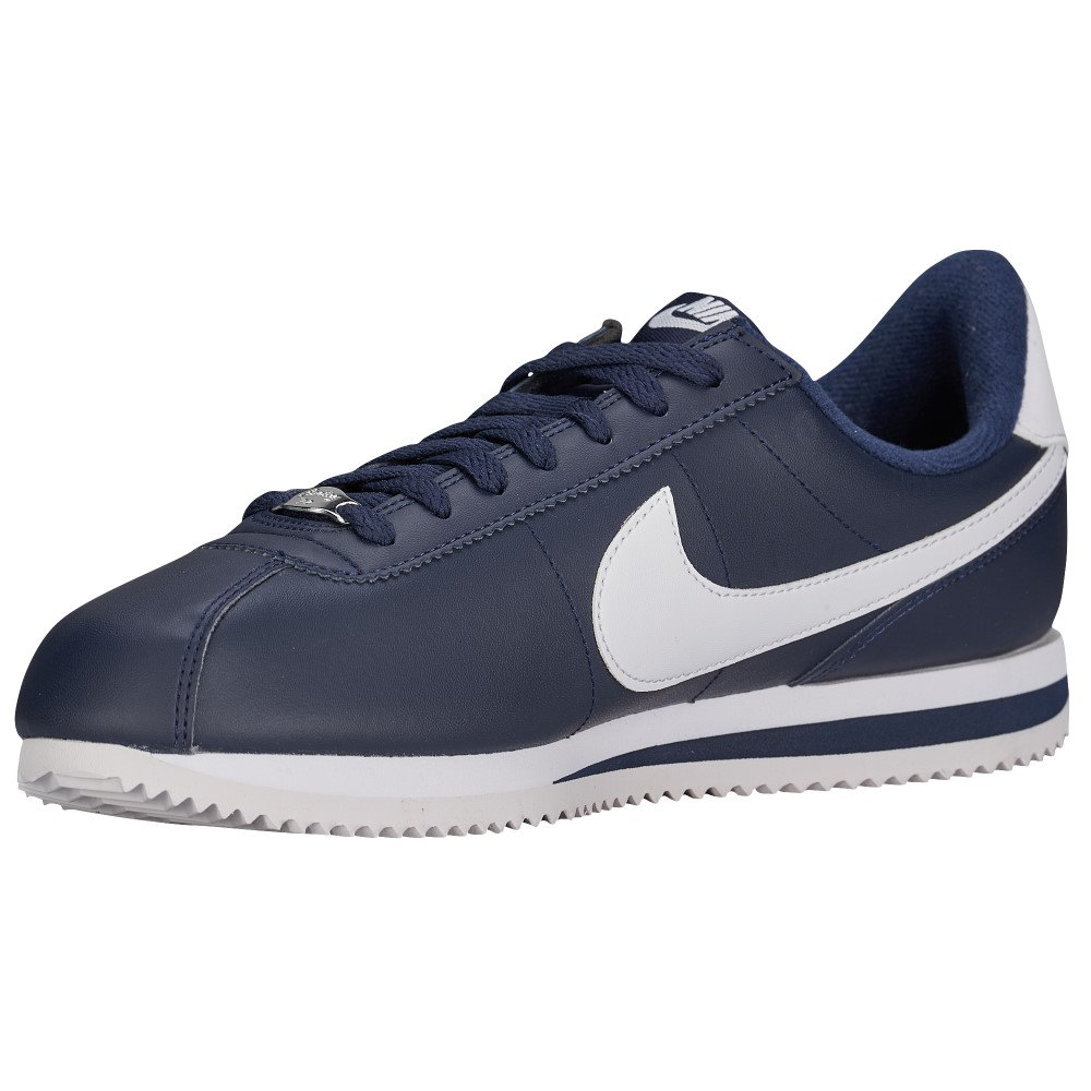 ナイキ Nike メンズ ランニング・ウォーキング シューズ・靴【Cortez】Obsidian/Metallic Silver/White Leather