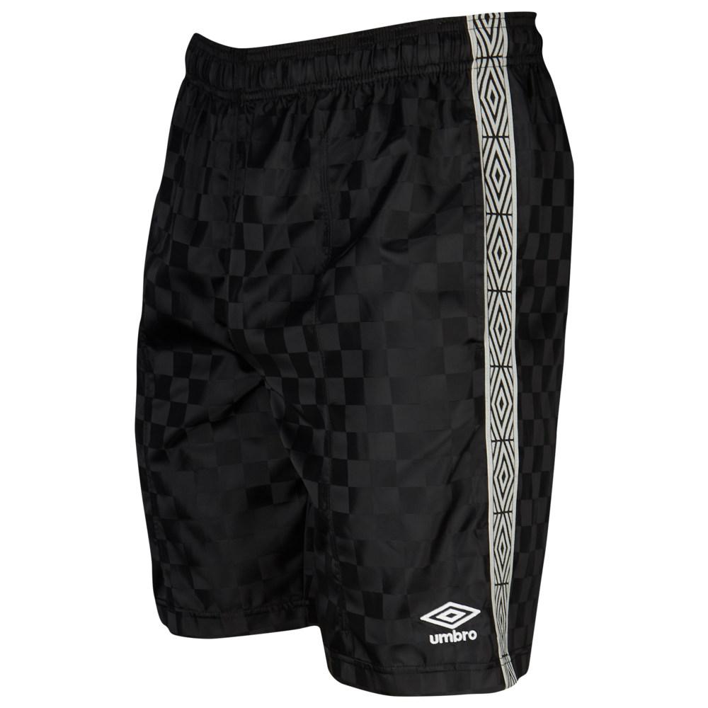 アンブロ Umbro メンズ サッカー ボトムス・パンツ【Checker Keeper Shorts】Black Beauty/White