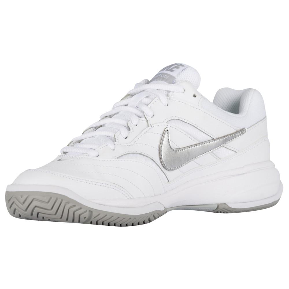 ナイキ Nike レディース テニス シューズ・靴【Court Lite】White/Medium Grey/Matte Silver