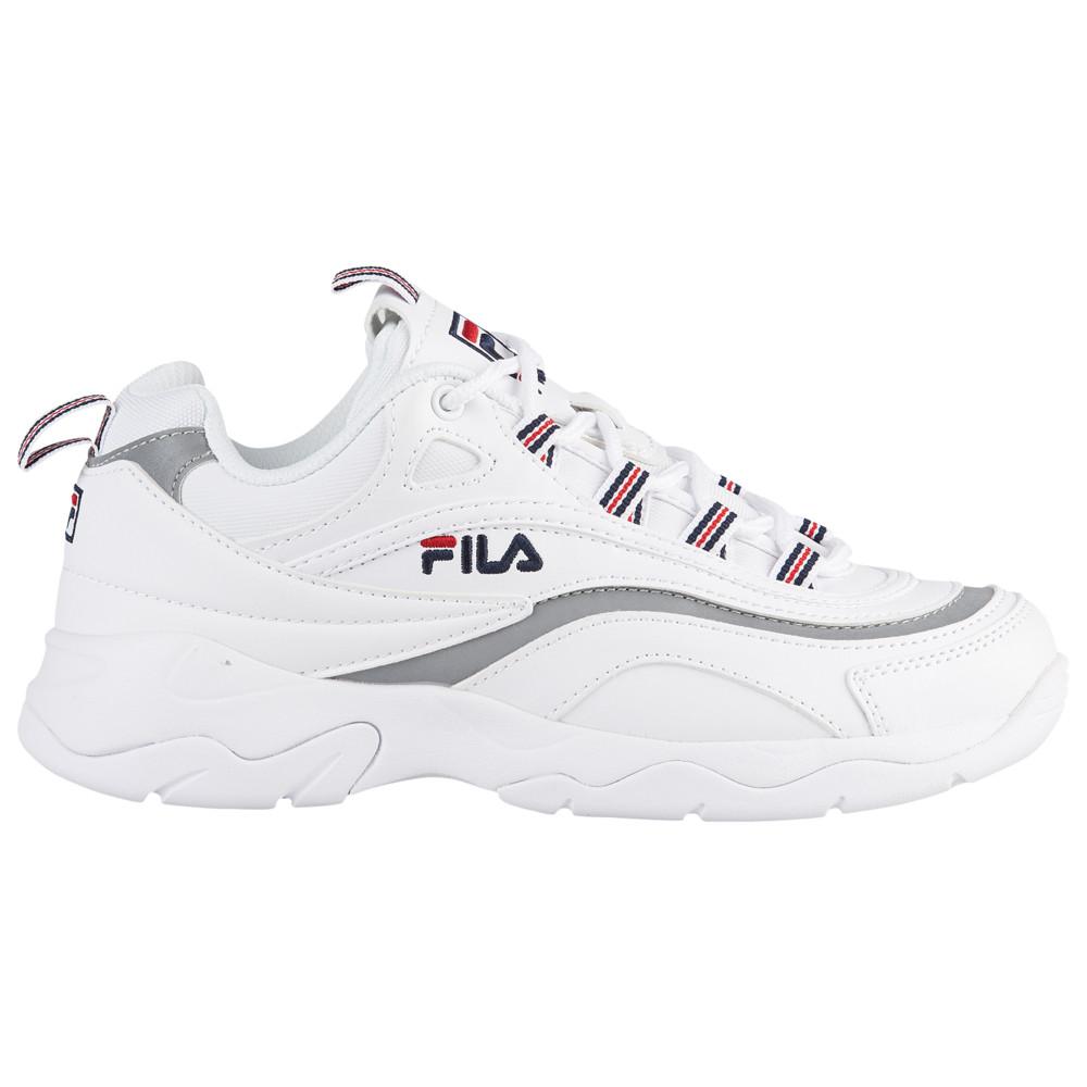 フィラ Fila レディース ランニング・ウォーキング シューズ・靴【Ray】White/Metallic Silver