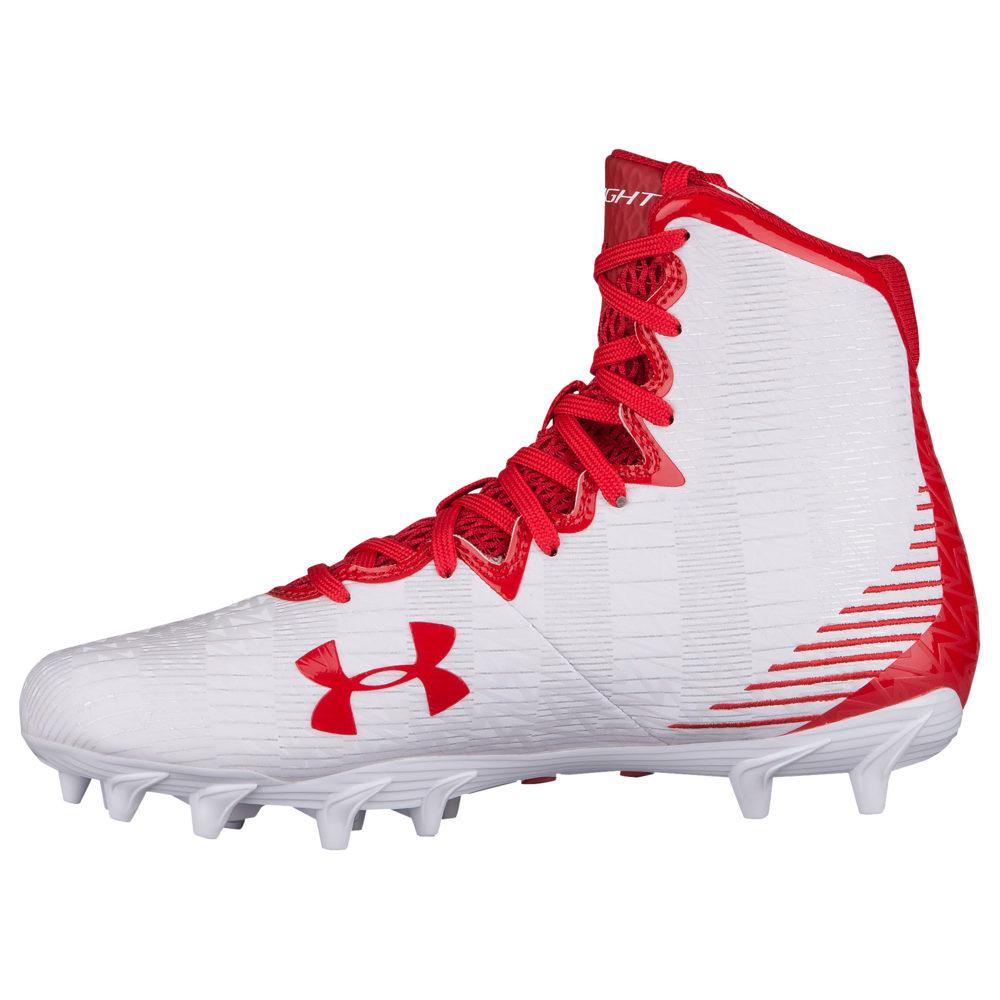アンダーアーマー Under Armour レディース ラクロス シューズ・靴【Lacrosse Highlight MC】White/Red