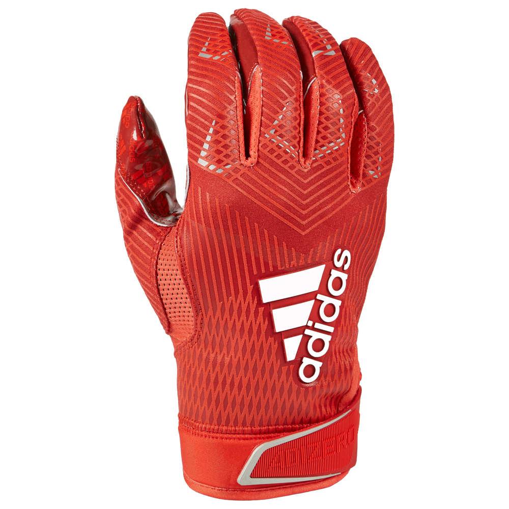 アディダス adidas メンズ アメリカンフットボール グローブ【adiZero 5-Star 8.0 Receiver Glove】Red/Metallic Silver
