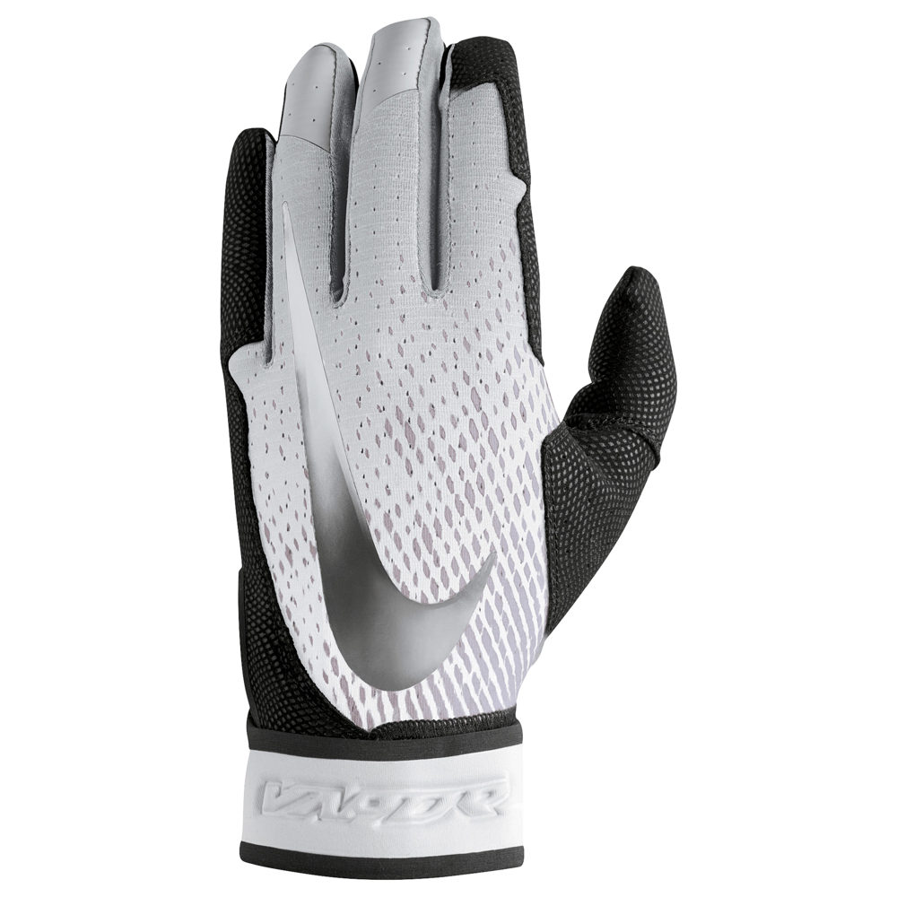 ナイキ Nike メンズ 野球 グローブ【Vapor Elite Batting Gloves】Black/White/Metallic Silver