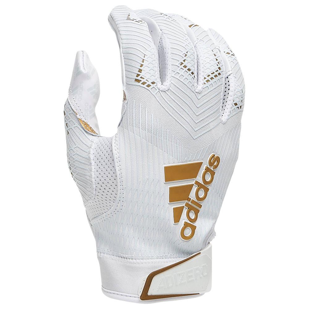 アディダス adidas メンズ アメリカンフットボール グローブ【adiZero 5-Star 8.0 Receiver Glove】White/White/Metallic Gold