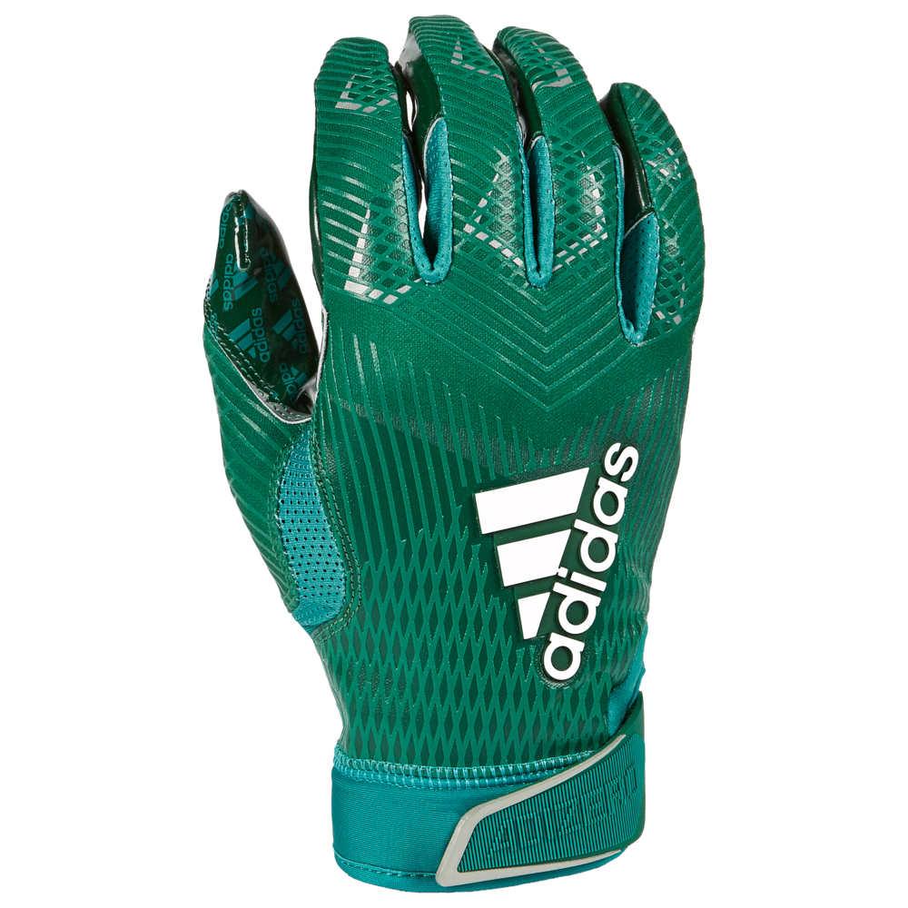 アディダス adidas メンズ アメリカンフットボール グローブ【adiZero 5-Star 8.0 Receiver Glove】Forest Green/Metallic Silver