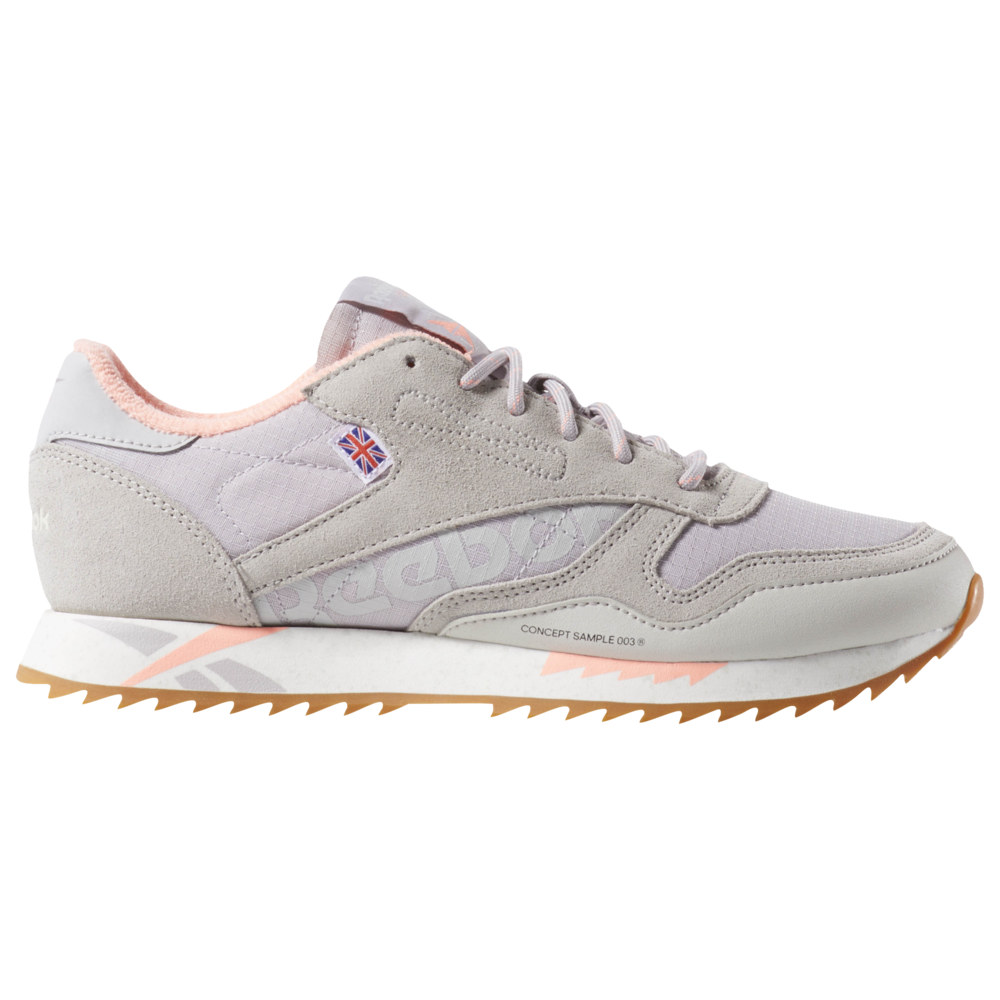 リーボック Reebok レディース ランニング・ウォーキング シューズ・靴【Classic Leather Ripple】Snowy Grey/Lavender Luck/Digital Pink/Chalk Alter the Icons