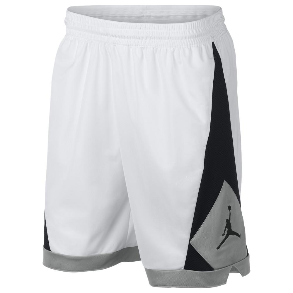 ナイキ ジョーダン Jordan メンズ バスケットボール ボトムス・パンツ【Triangle Shorts】White/Black/Particle Grey