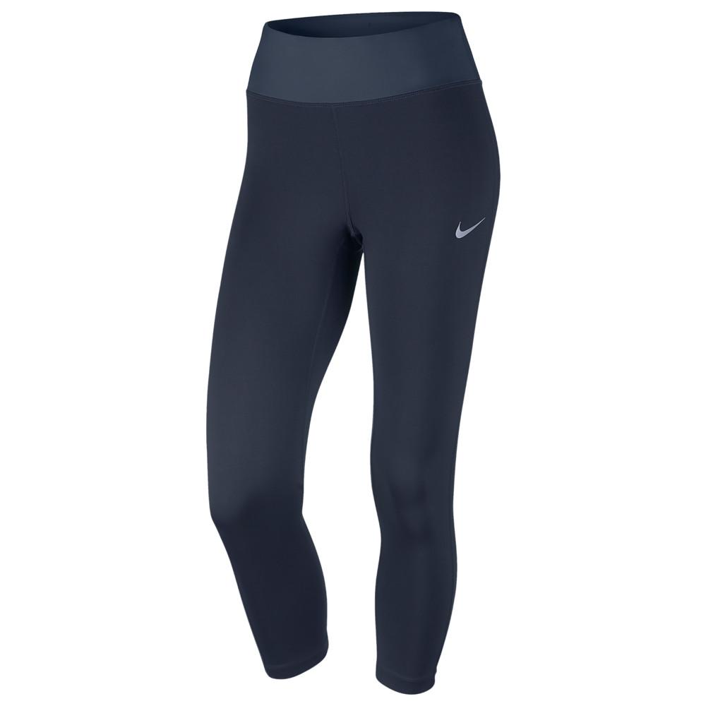 ナイキ Nike レディース ランニング・ウォーキング ボトムス・パンツ【Dri-FIT Power Essential Crop】Obsidian/Thunder Blue/Reflective Silver