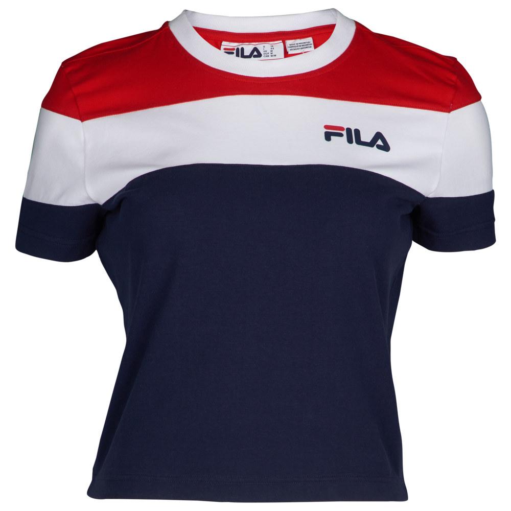 フィラ Fila レディース トップス ベアトップ・チューブトップ・クロップド【Maya Crop T-Shirt】Peacoat/Chinese Red/White