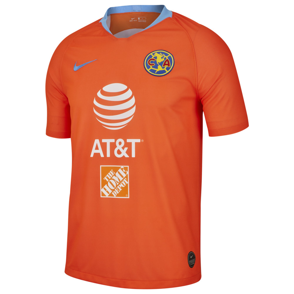 ナイキ Nike メンズ サッカー トップス【Soccer Breathe Stadium Jersey】World Soccer Club America Orange/Blue Road