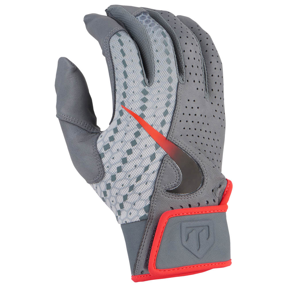 ナイキ Nike メンズ 野球 グローブ【Trout Elite 2.0 Batting Glove】Cool Grey/Pure Platinum/Bright Crimson