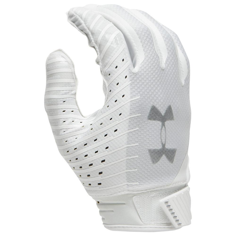 アンダーアーマー Under Armour メンズ アメリカンフットボール グローブ【Spotlight NFL Receiver Gloves】White/Steel