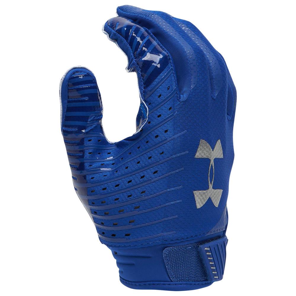 アンダーアーマー Under Armour メンズ アメリカンフットボール グローブ【Spotlight NFL Receiver Gloves】Royal/White