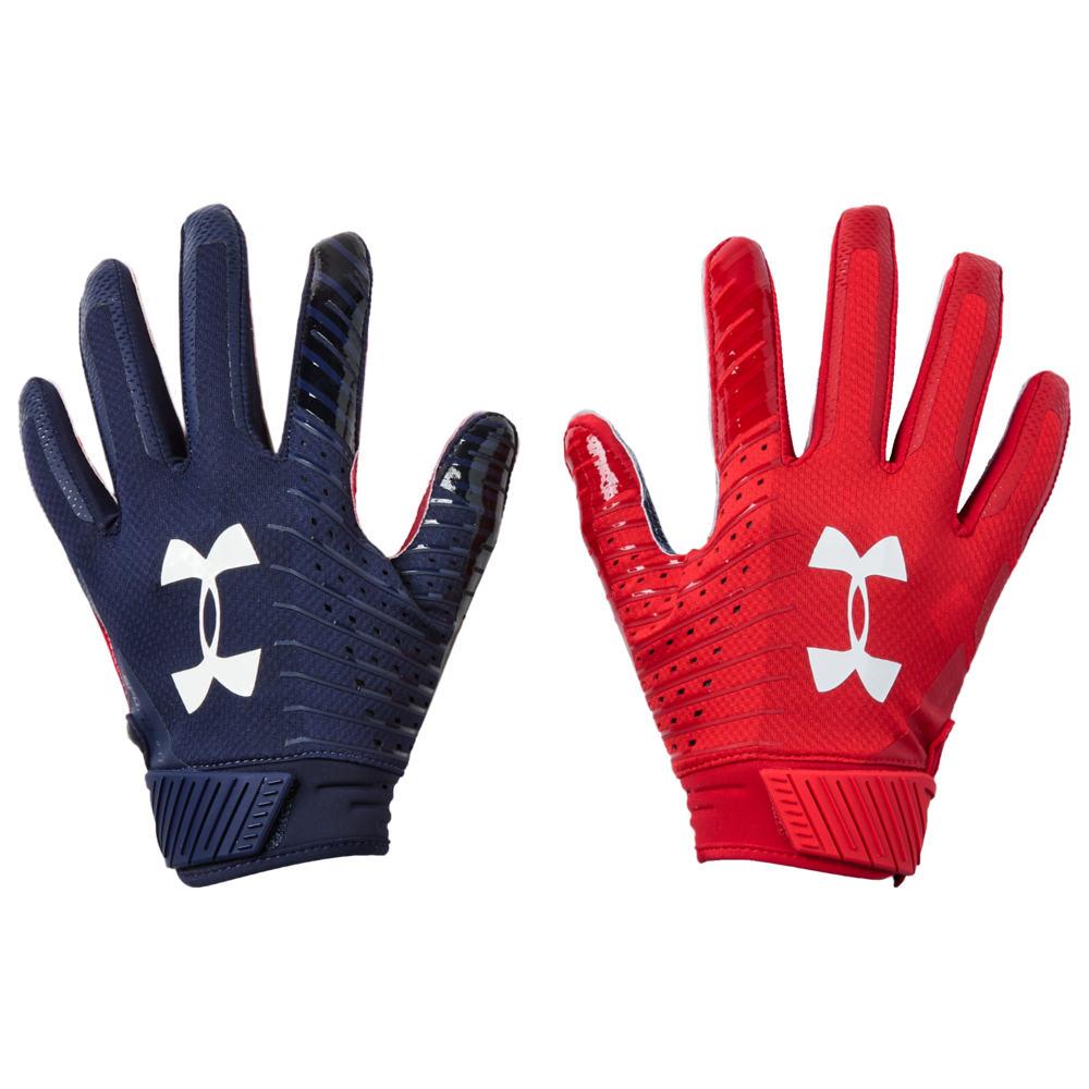 アンダーアーマー Under Armour メンズ アメリカンフットボール グローブ【Spotlight LE NFL Receiver Glove】Midnight Navy/White