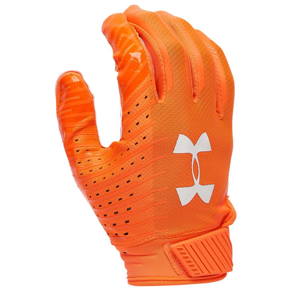 アンダーアーマー Under Armour メンズ アメリカンフットボール グローブ【Spotlight LE NFL Receiver Glove】Orange Glitch/White