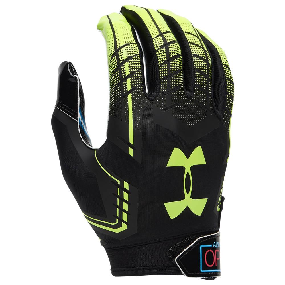 アンダーアーマー Under Armour メンズ アメリカンフットボール グローブ【F6 Receiver Gloves】Black/Hi-Vis Yellow Always Open