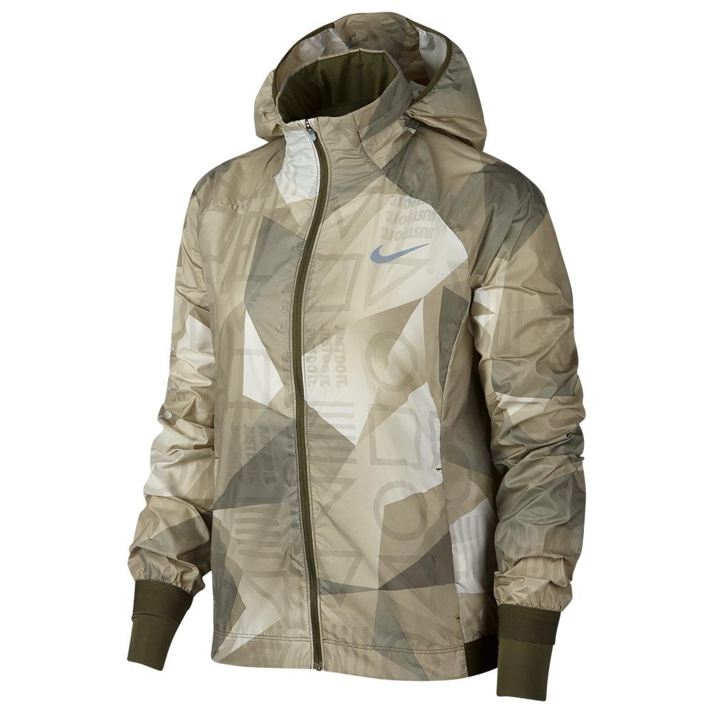 ナイキ Nike レディース ランニング・ウォーキング アウター【Shield Hooded Jacket】Olive Canvas/Olive Canvas Print