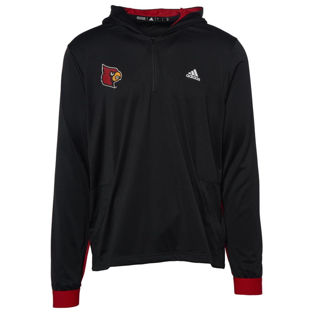 アディダス adidas メンズ トップス【College L/S Warm-Up 1/4 Zip】NCAA Louisville Cardinals Black